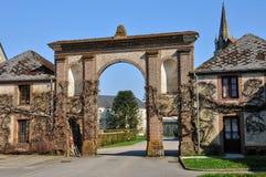 Normandie, de abdij van La Trappe in Soligny-La Trappe Royalty-vrije Stock Foto