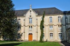 Normandie, de abdij van La Trappe in Soligny-La Trappe Stock Foto