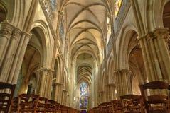 Normandie, de schilderachtige stad van Les Andelys Stock Afbeelding