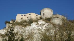 Normandie, de schilderachtige stad van Les Andelys Stock Fotografie