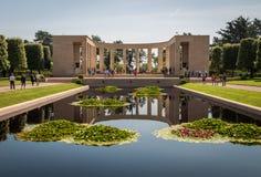Normandie den amerikanska kyrkogården på den Omaha stranden, Normandie, Frankrike royaltyfri fotografi