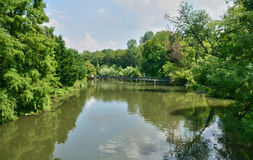Normandie, the Eure river in Ezy sur Eure Stock Image