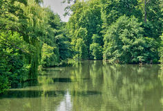 Normandie, the Eure river in Ezy sur Eure Royalty Free Stock Images