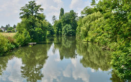 Normandie, the Eure river in Ezy sur Eure Stock Images