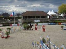 Normandie hästshow Arkivbild