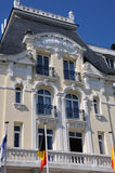 Normandie, the historical Grand Hotel of Cabourg Royalty Free Stock Images