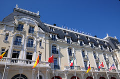 Normandie, the historical Grand Hotel of Cabourg Stock Photo