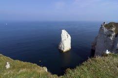 Normandie-Klippe lizenzfreie stockfotografie