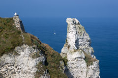 Normandie-Klippe lizenzfreies stockfoto