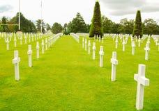 Normandie kyrkogård Royaltyfri Fotografi