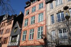 Normandie, la ville pittoresque de Rouen photos stock