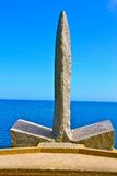 Normandie monument Arkivbild