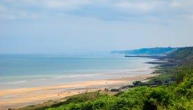 Normandie omaha strand Arkivfoton
