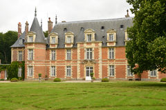 Normandie, the picturesque castle of Miromesnil in Tourville sur Royalty Free Stock Photo