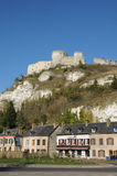 Normandie, the picturesque city of Les Andelys Stock Images