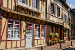 Normandie, the picturesque city of Lyons la Foret Stock Images