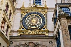 Normandie, picturesque city of Rouen in Seine Maritime. Normandie, the picturesque Gros Horloge of Rouen in Seine Maritime Royalty Free Stock Photo
