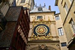 Normandie, picturesque city of Rouen in Seine Maritime. Normandie, the picturesque Gros Horloge of Rouen in Seine Maritime Stock Images
