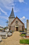 Normandie, the picturesque village of Bois Guilbert Royalty Free Stock Images