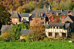 Normandie, the picturesque village of Lyons la Foret Stock Images