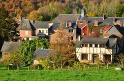 Normandie, the picturesque village of Lyons la Foret Stock Images