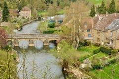 Normandie, the picturesque village of Saint Ceneri le Gerei Stock Photos