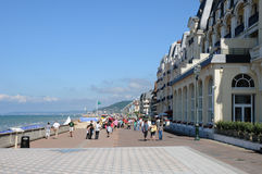 Normandie, the Promenade Marcel Proust in Cabourg Stock Image