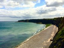 Normandie strand, Frankrike Arkivbild