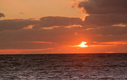 Normandie sunset Royalty Free Stock Images