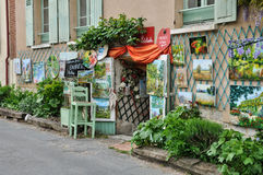 Normandie, the village of Giverny in Eure Stock Photo