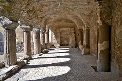 Normandisk cloister - Lipari royaltyfri bild