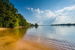 Normando del lago, en el parque de la ficha, en Cornelio, Carolina del Norte imágenes de archivo libres de regalías