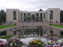 Normandy. The Monument at the American Cemetary at Normandy. The French asked Eisenhower what he wanted for liberating France, he said just room enough to bury Royalty Free Stock Images