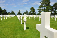 Normandy American Cemetery Collevile sur mer Royalty Free Stock Image