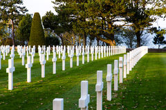 Normandy American Cemetery Colleville Royalty Free Stock Images