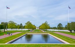 Normandy American Cemetery in Colleville-sur-Mer, France. stock photography