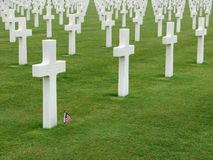 Normandy American Cemetery and Memorial. The American Cemetery in Colleville-sur-Mer, Normandy, France, that honors American soldiers who died in Europe during Stock Photography