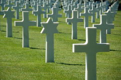 The Normandy American Cemetery and Memorial Stock Photos