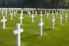 Normandy American Cemetery and Memorial, Omaha Beach Stock Image