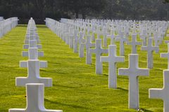 Normandy American Cemetery, Omaha Beach Royalty Free Stock Photo