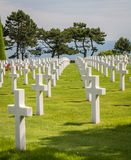 The Normandy American Cemetery at Omaha beach, Normandy, France royalty free stock photography