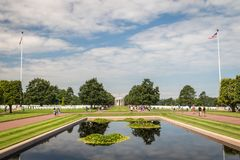 The Normandy American cemetery at Omaha beach, Normandy, France royalty free stock images
