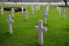 Normandy American Cemetery Royalty Free Stock Photography