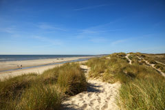 Normandy beach and dunes Royalty Free Stock Photos