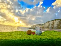 Normandy beach, France royalty free stock images