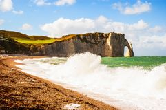 Normandy beach Stock Images
