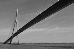Normandy bridge. In black and white Normandy region France Royalty Free Stock Photos