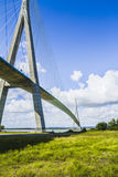 Normandy bridge. Over the Seine Royalty Free Stock Images