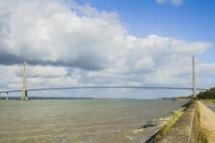 Normandy bridge. Over the Seine river Royalty Free Stock Photo