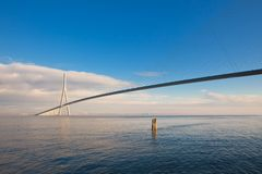Normandy bridge (Pont de Normandie, France) Royalty Free Stock Photos